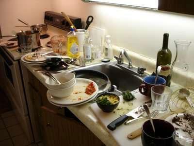 Типичная ситуация на кухне за 5 минут до прихода гостей