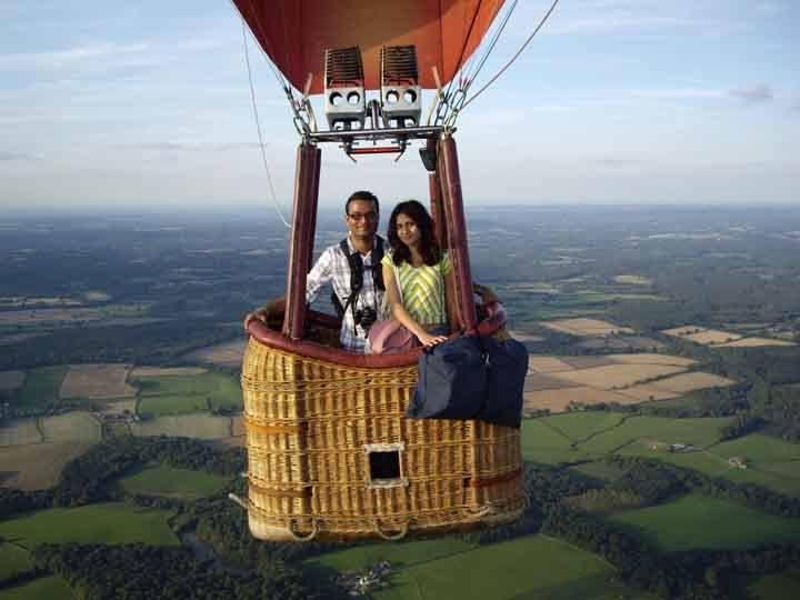 Полет корзине воздушного шара