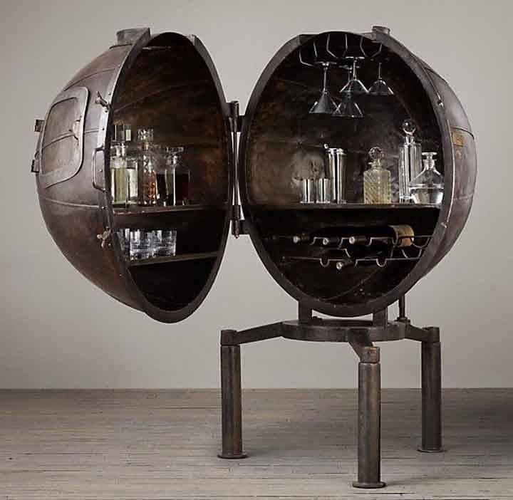 Напольный бар-глобус