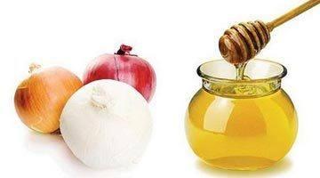 Лук и мед для волос