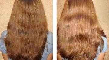 Фото до и после осветления волос