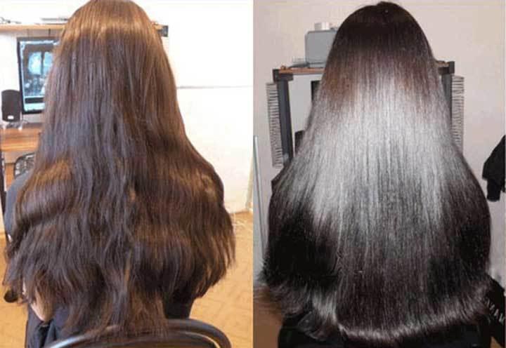 Фото до и после применения майонезной маски для волос