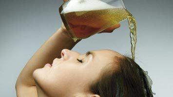 Маска для волос с пивом