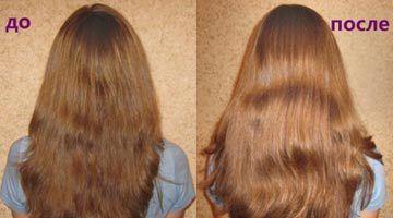 Фото волос до и после применения кефирной маски