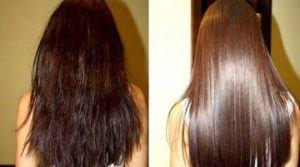 Фото до и после применения маски с пивом для волос