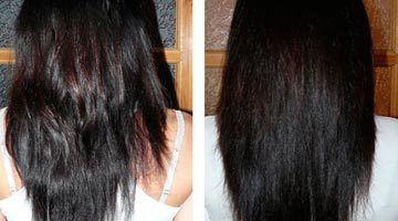Фото волос до и после использования бесцветной хны