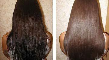 Фото волос до и после применения