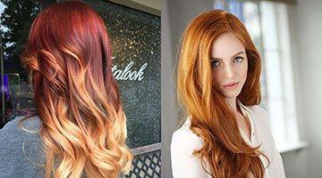 Варианты мелирования на рыжие волосы