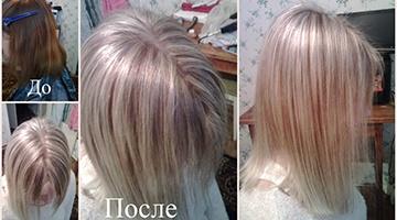 тонировать волосы